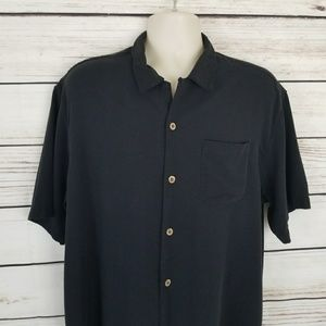 Tommy Bahama Silk Blend Button Single Pocket Shirt